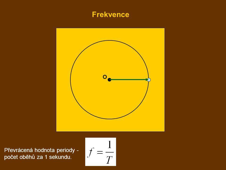O Převrácená hodnota periody - počet oběhů za 1 sekundu. Frekvence