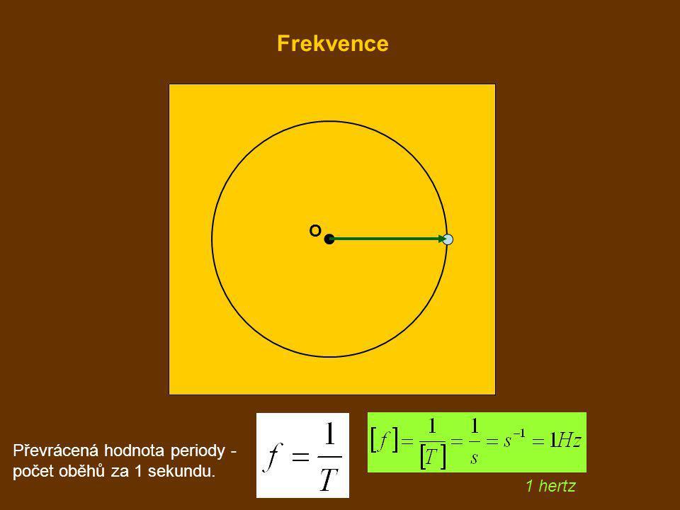 O 1 hertz Převrácená hodnota periody - počet oběhů za 1 sekundu. Frekvence