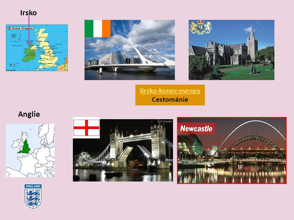 Irsko Anglie Iirsko-konec-evropy Cestománie