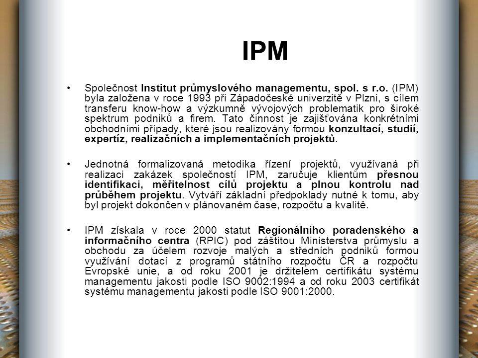 IPM Společnost Institut průmyslového managementu, spol.