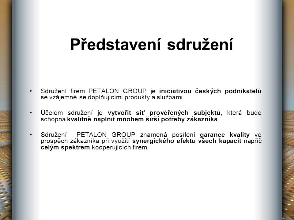 solit project Společnost solit project, s.r.o.