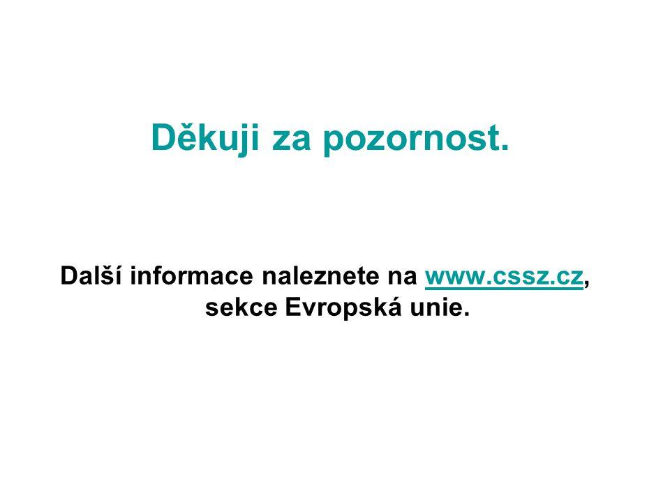 Děkuji za pozornost. Další informace naleznete na www.cssz.cz, sekce Evropská unie.www.cssz.cz