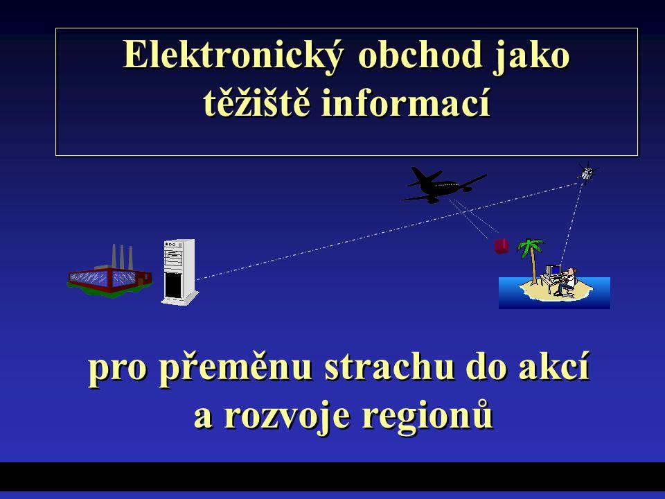 Elektronický obchod jako těžiště informací Elektronický obchod jako těžiště informací pro přeměnu strachu do akcí a rozvoje regionů pro přeměnu strachu do akcí a rozvoje regionů