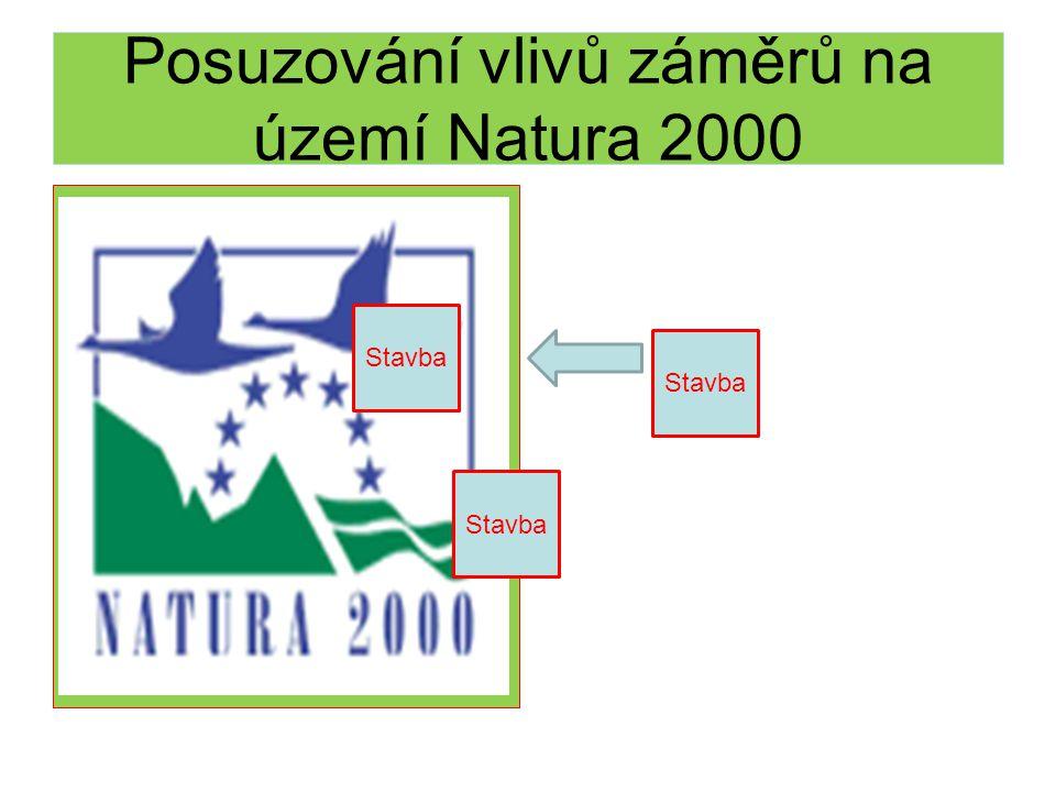 Posuzování vlivů záměrů na území Natura 2000 Stavba