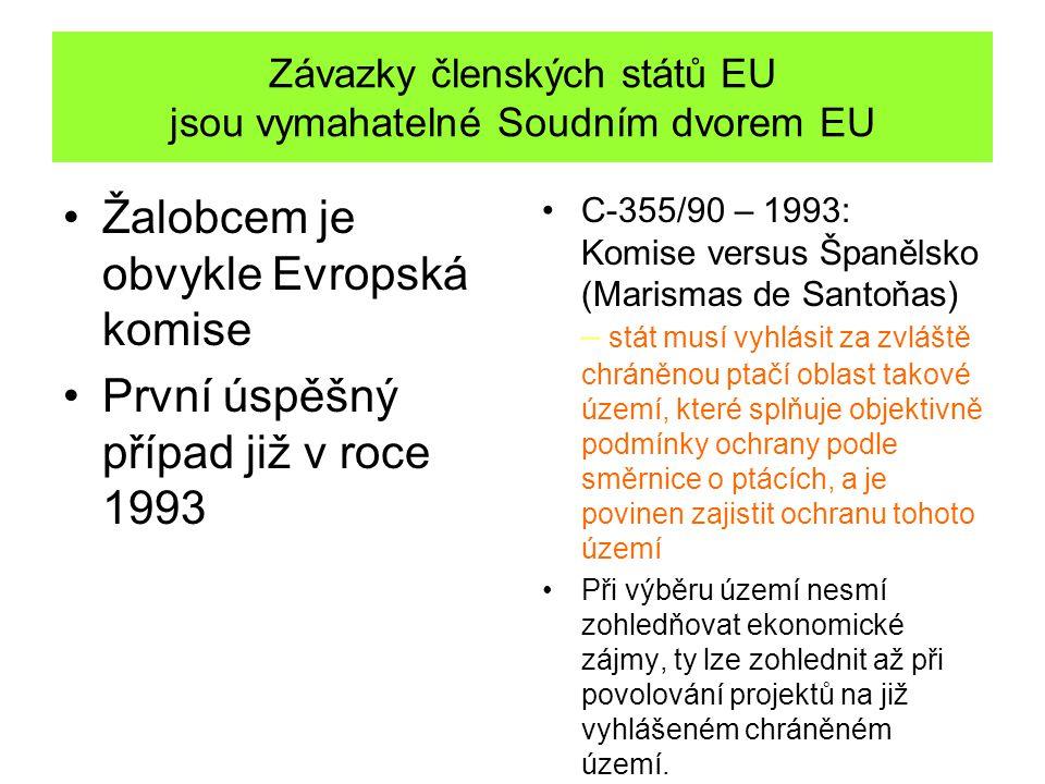 Závazky členských států EU jsou vymahatelné Soudním dvorem EU Žalobcem je obvykle Evropská komise První úspěšný případ již v roce 1993 C-355/90 – 1993