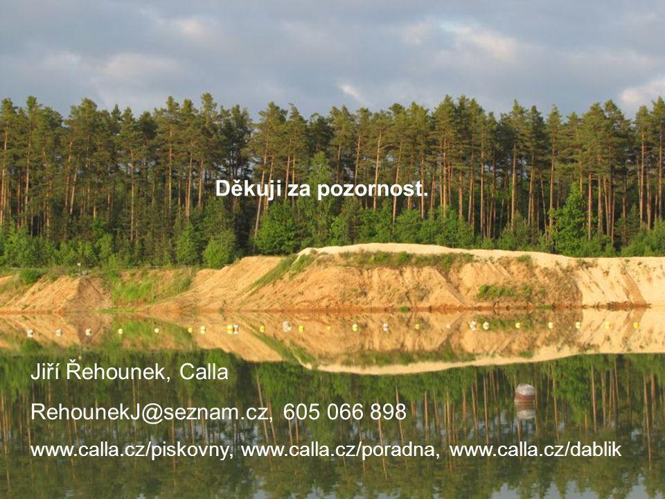 Děkuji za pozornost. Jiří Řehounek, Calla RehounekJ@seznam.cz, 605 066 898 www.calla.cz/piskovny, www.calla.cz/poradna, www.calla.cz/dablik