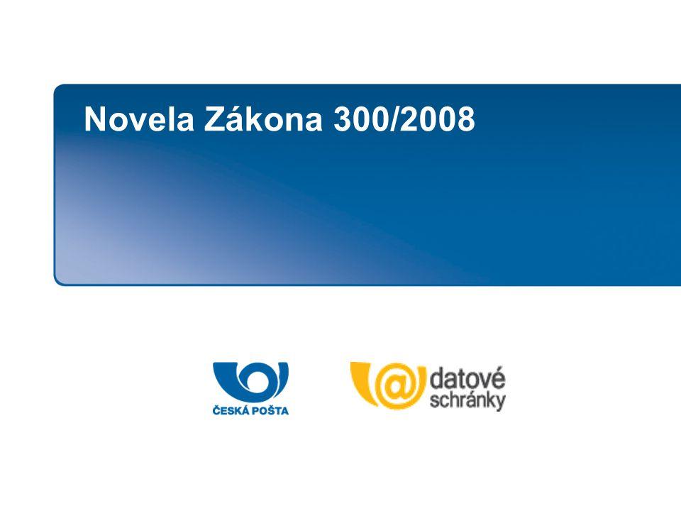 Novela Zákona 300/2008