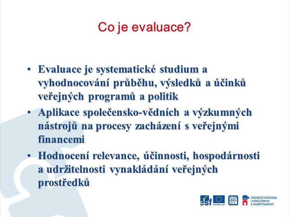 Co je evaluace.