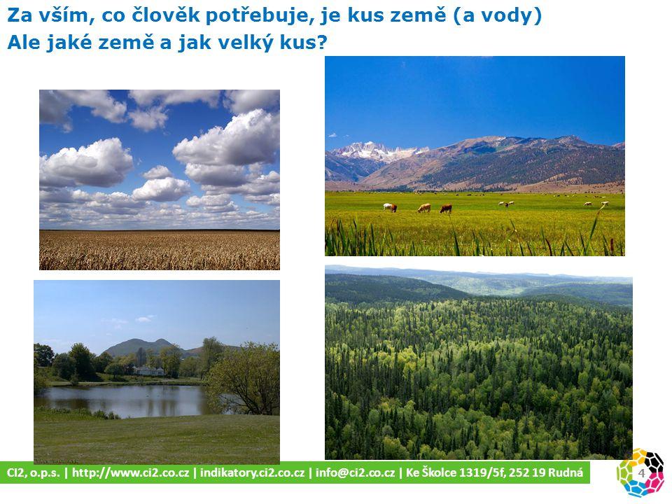 4 Za vším, co člověk potřebuje, je kus země (a vody) Ale jaké země a jak velký kus