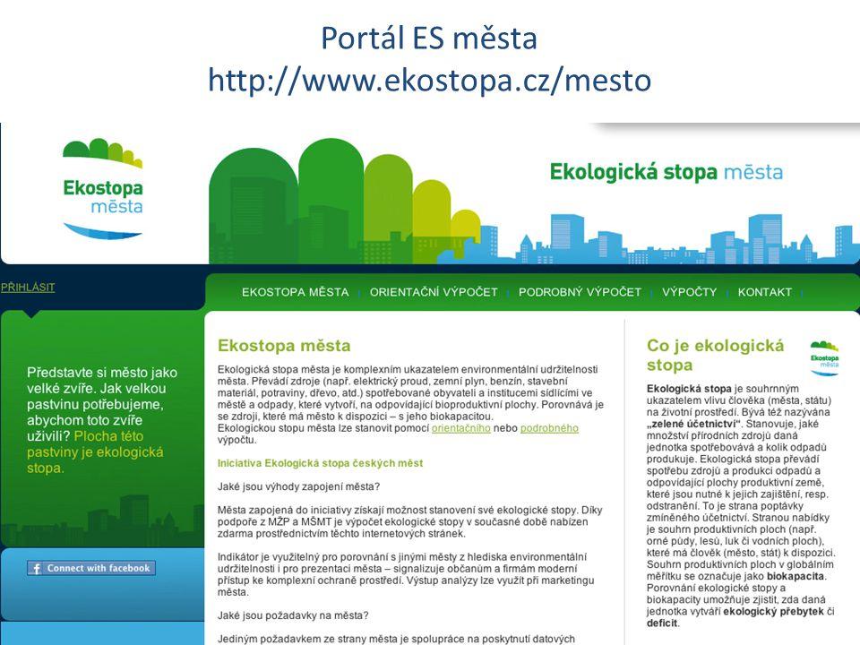 Portál ES města http://www.ekostopa.cz/mesto