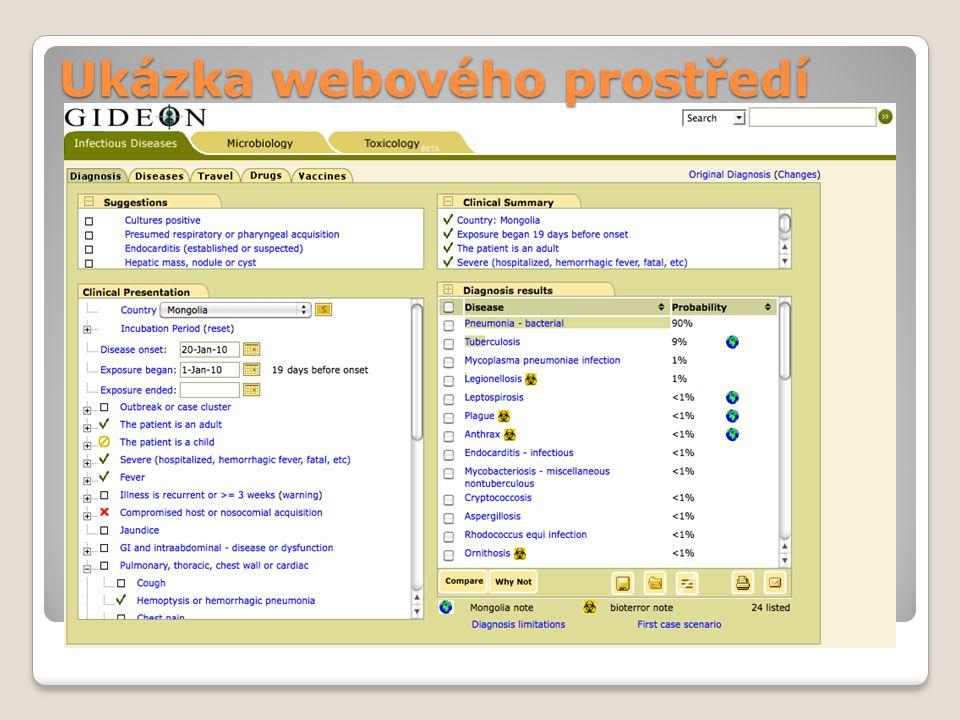 Ukázka webového prostředí