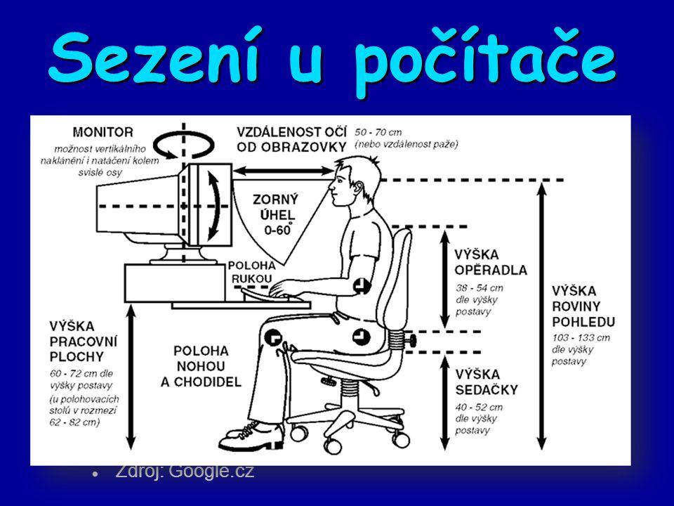 Sezení u počítače Zdroj: Google.cz