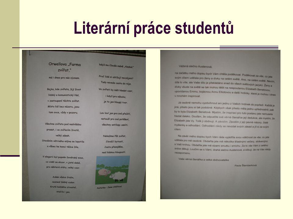 Literární práce studentů