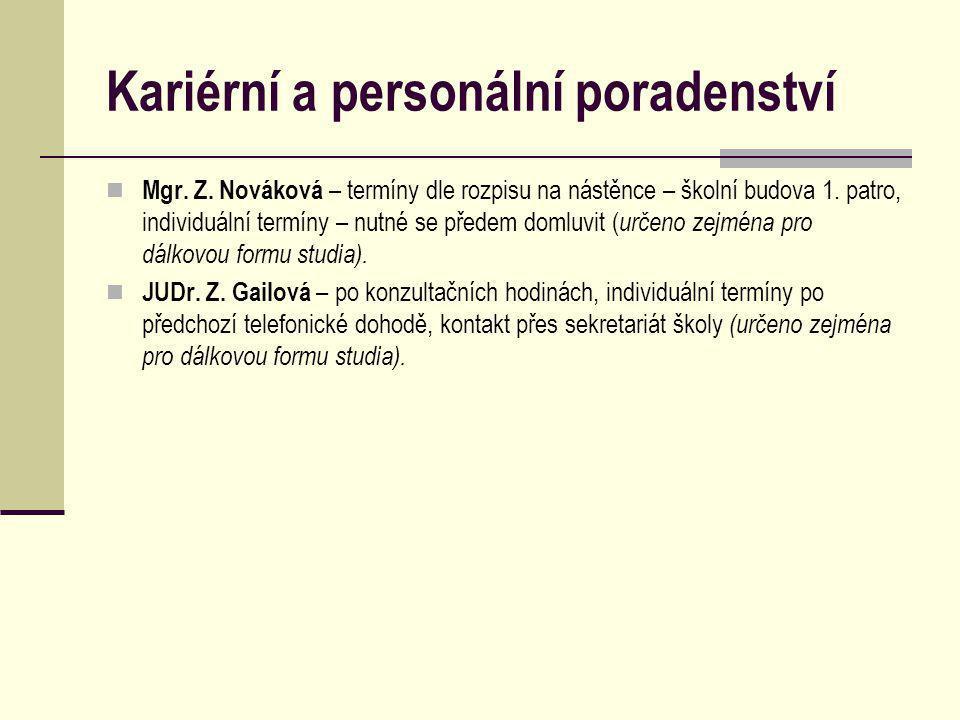 Kariérní a personální poradenství Mgr. Z.