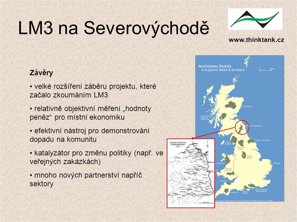 """www.thinktank.cz LM3 na Severovýchodě Závěry velké rozšíření záběru projektu, které začalo zkoumáním LM3 relativně objektivní měření """"hodnoty peněz"""" p"""