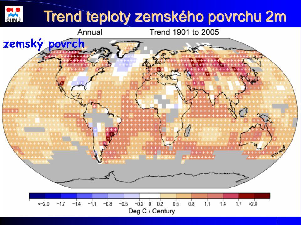 zemský povrch Trend teploty zemského povrchu 2m