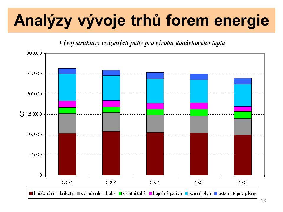 13 Analýzy vývoje trhů forem energie