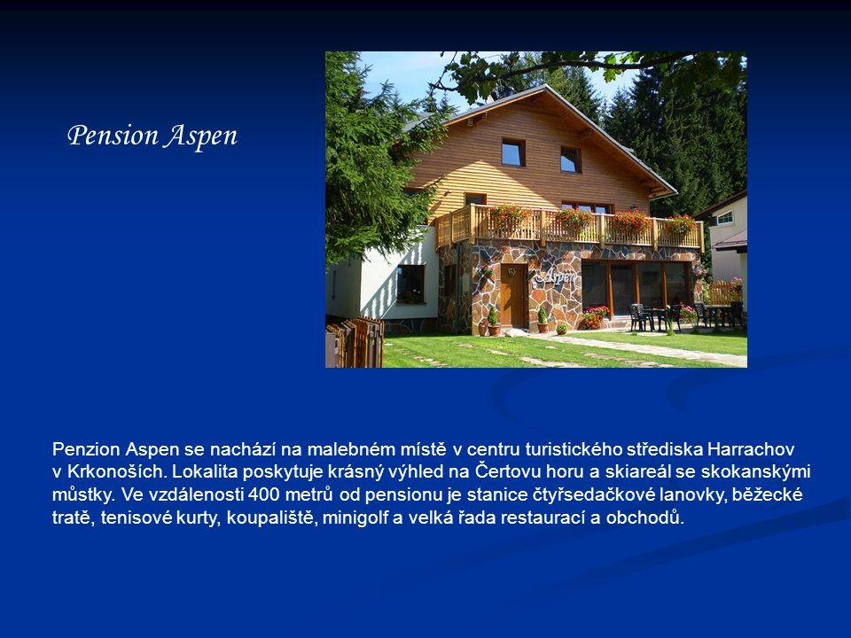 Pension Aspen Penzion Aspen se nachází na malebném místě v centru turistického střediska Harrachov v Krkonoších.