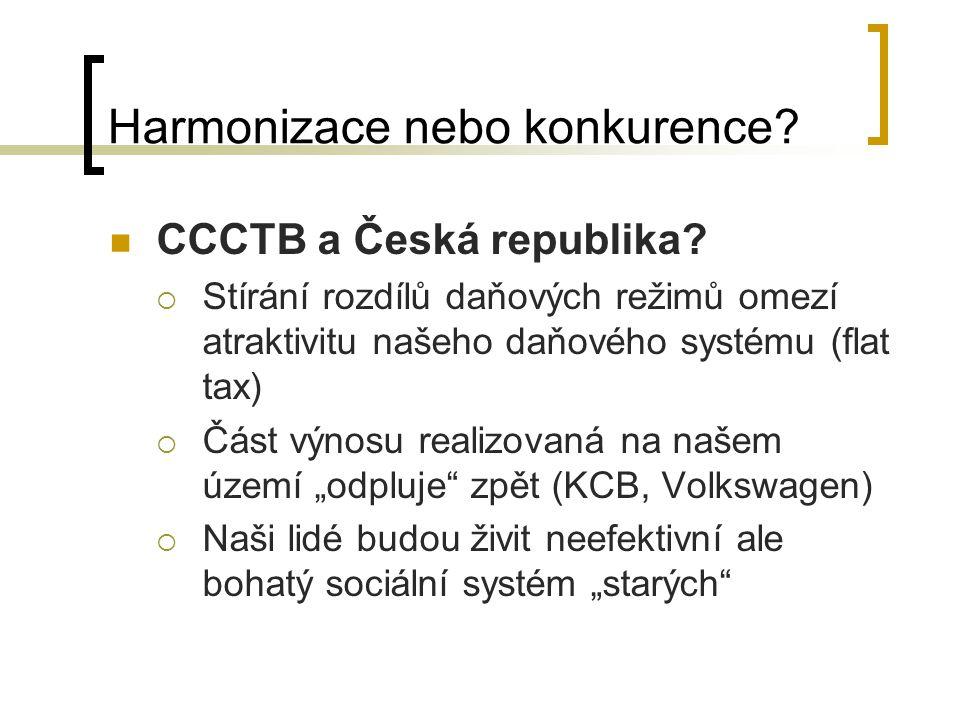 Harmonizace nebo konkurence. CCCTB a Česká republika.