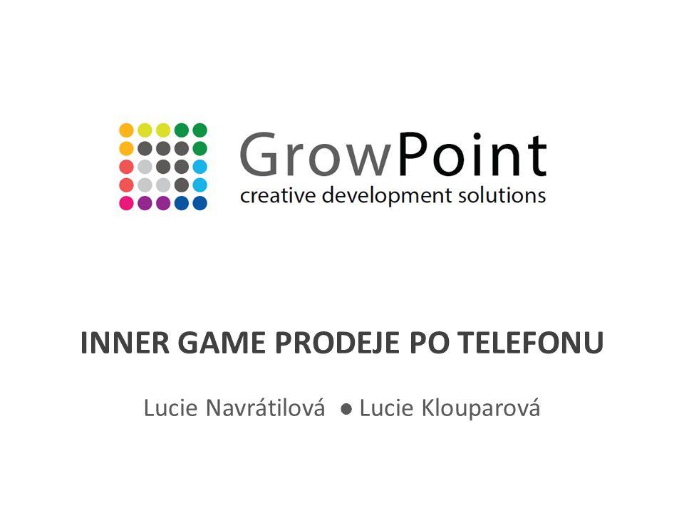 INNER GAME PRODEJE PO TELEFONU Lucie Navrátilová Lucie Klouparová