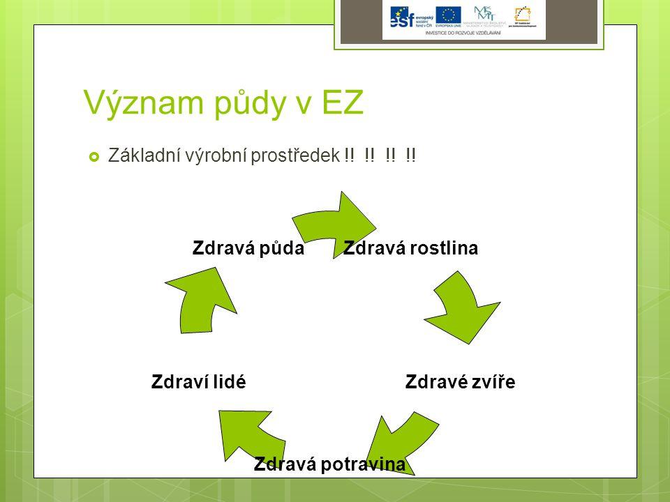 Význam půdy v EZ  Základní výrobní prostředek !.!.