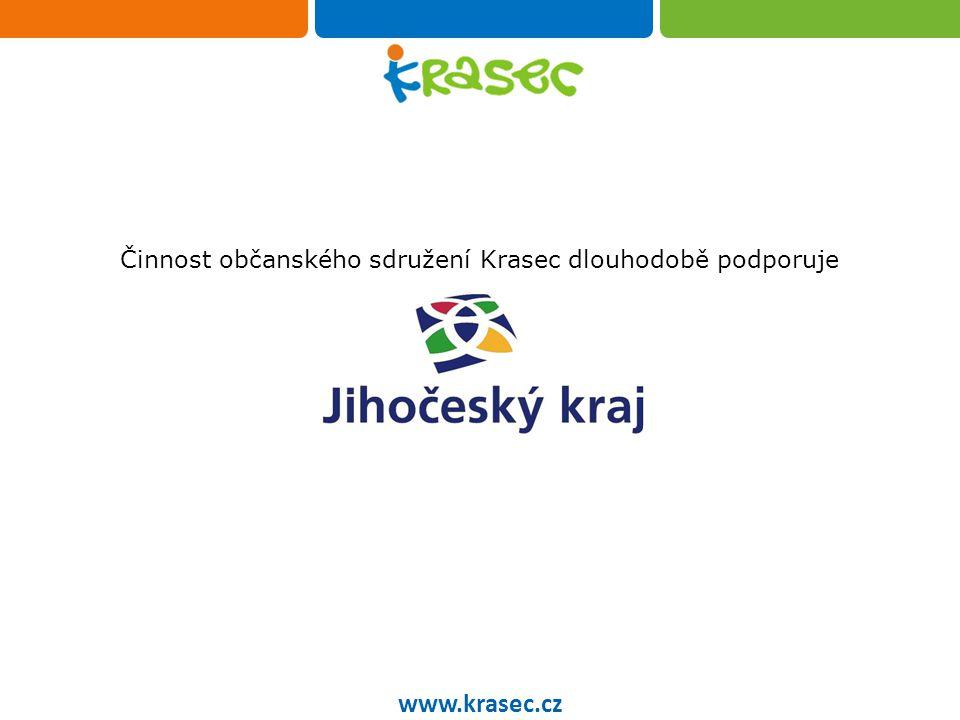 Občanského sdružení Krasec Činnost občanského sdružení Krasec dlouhodobě podporuje www.krasec.cz