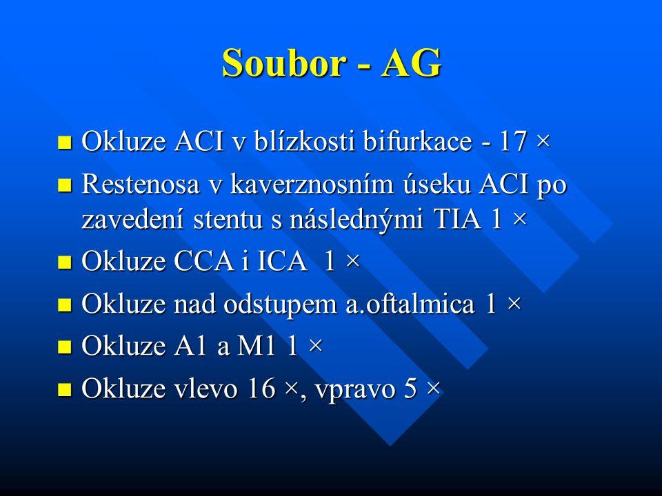 Soubor - AG Okluze ACI v blízkosti bifurkace - 17 × Okluze ACI v blízkosti bifurkace - 17 × Restenosa v kaverznosním úseku ACI po zavedení stentu s ná