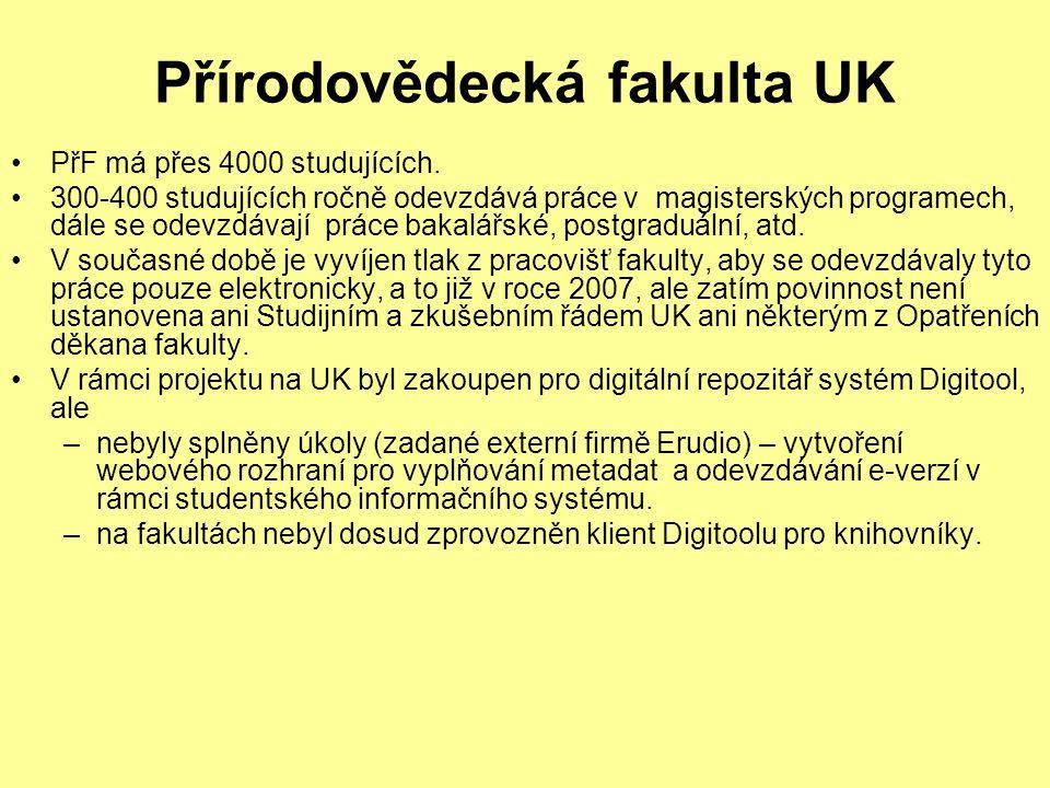 Přírodovědecká fakulta UK PřF má přes 4000 studujících.