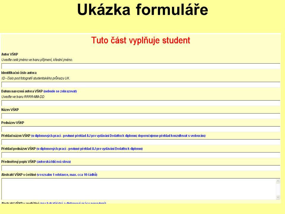 Ukázka formuláře