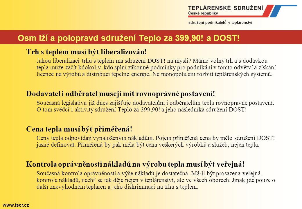 sdružení podnikatelů v teplárenství www.tscr.cz DOST.