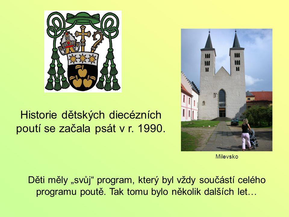 Historie dětských diecézních poutí se začala psát v r.