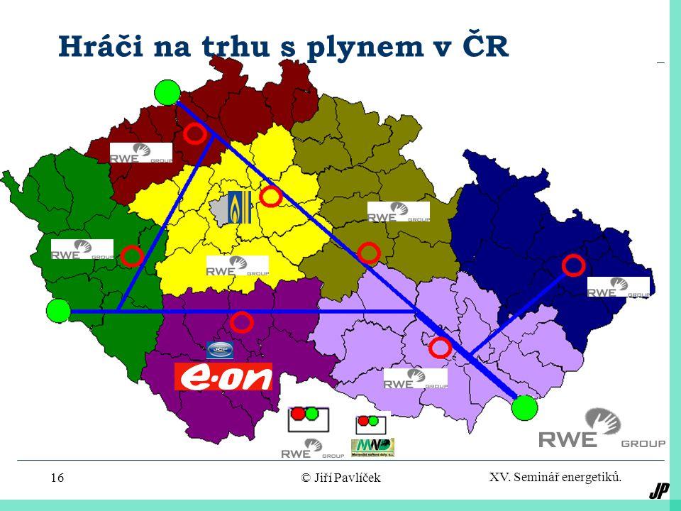 JP XV. Seminář energetiků. © Jiří Pavlíček16 Hráči na trhu s plynem v ČR