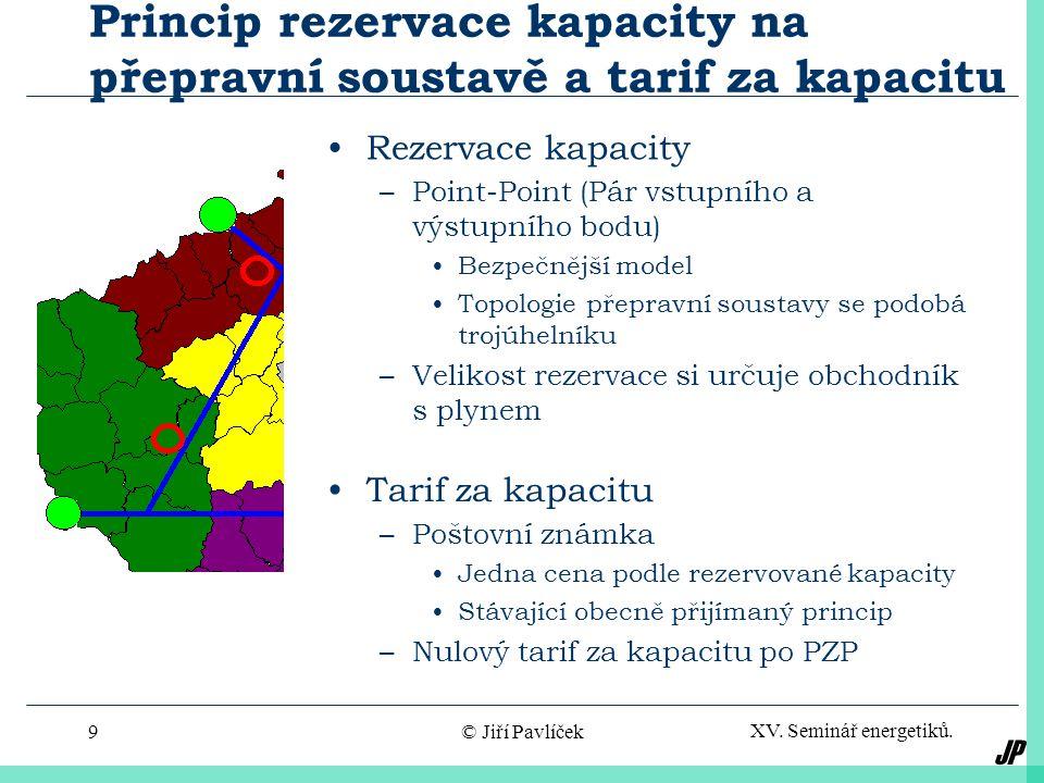 JP XV. Seminář energetiků. © Jiří Pavlíček8 Konečné schéma obchodního modelu plynárenské soustavy