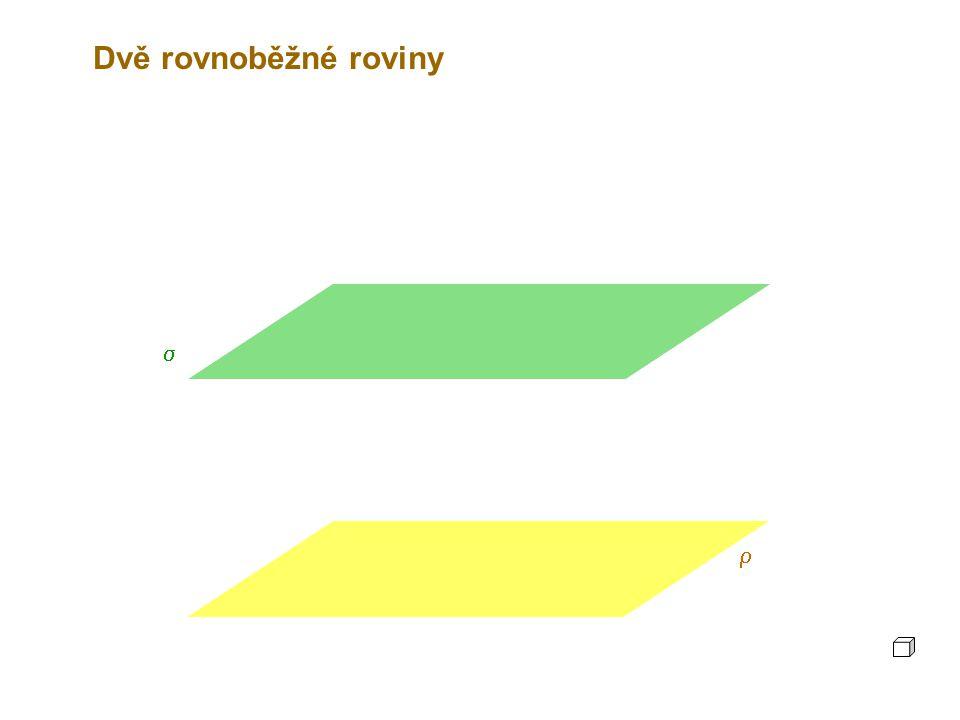 Dvě rovnoběžné roviny  