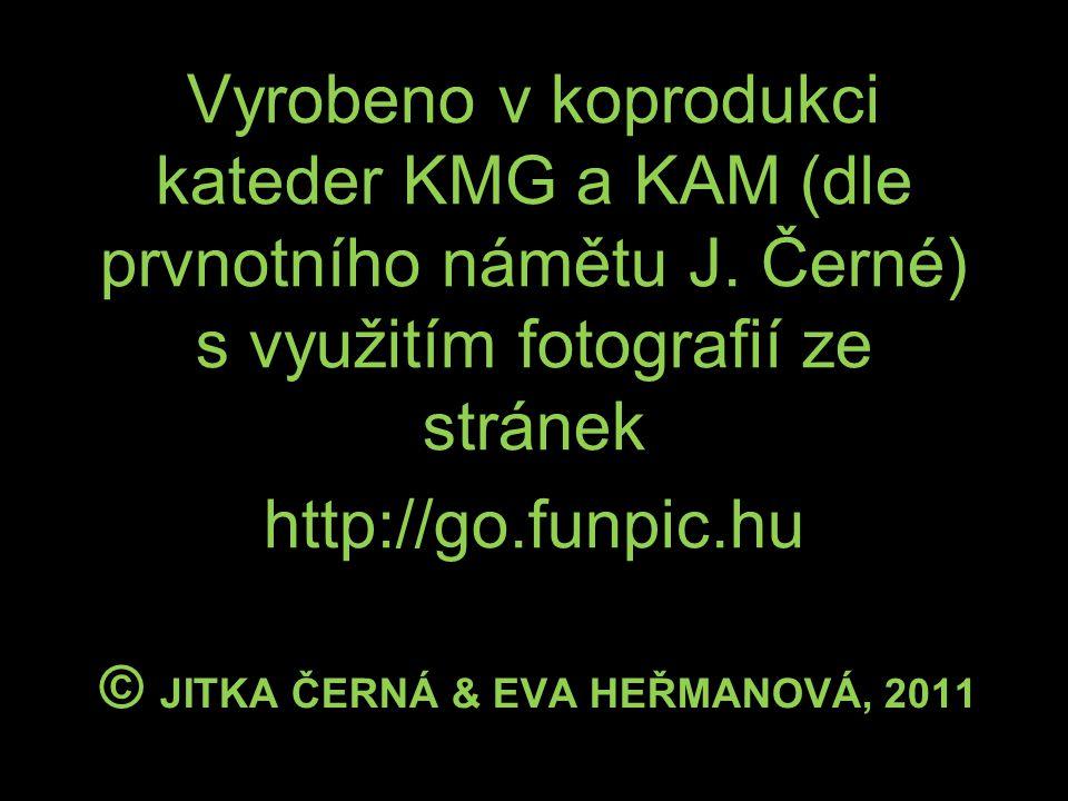 © JITKA ČERNÁ & EVA HEŘMANOVÁ, 2011 Vyrobeno v koprodukci kateder KMG a KAM (dle prvnotního námětu J.