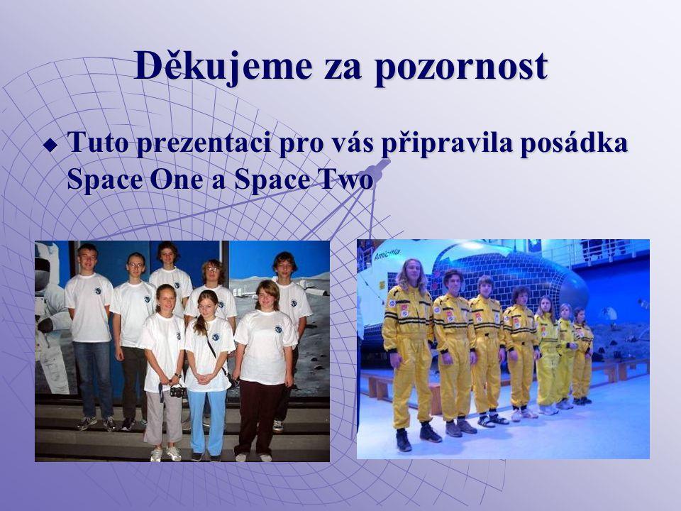 Děkujeme za pozornost  Tuto prezentaci pro vás připravila posádka Space One a Space Two