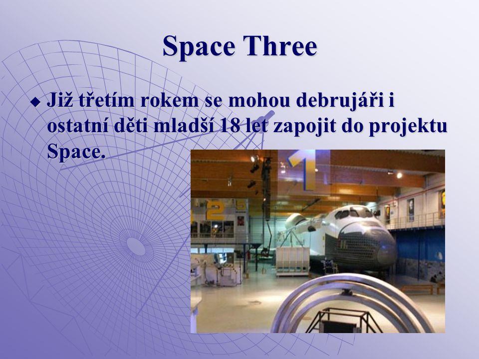 Space Three  Již třetím rokem se mohou debrujáři i ostatní děti mladší 18 let zapojit do projektu Space.