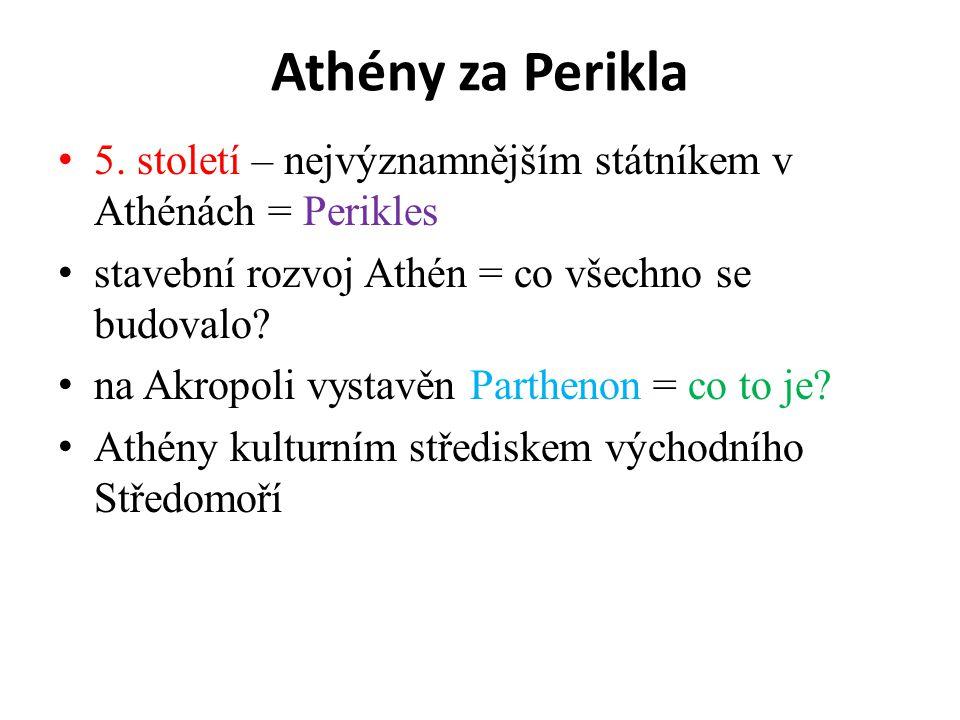 Athény za Perikla 5.