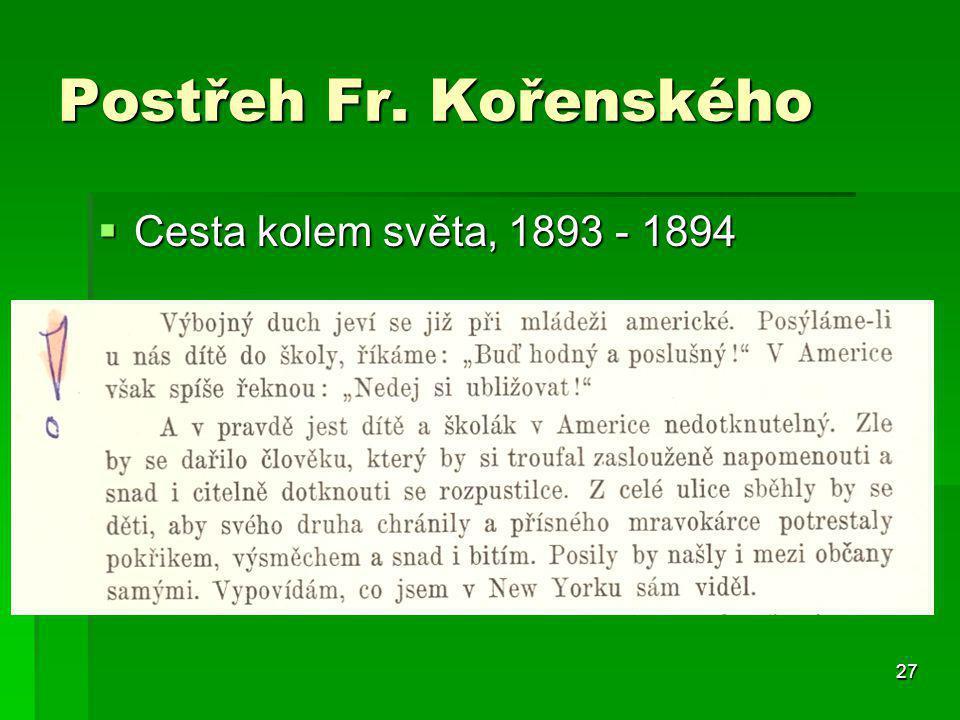 27 Postřeh Fr. Kořenského  Cesta kolem světa, 1893 - 1894