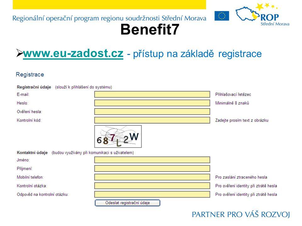 Benefit7  www.eu-zadost.cz - přístup na základě registrace www.eu-zadost.cz