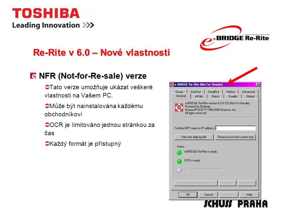 NFR (Not-for-Re-sale) verze  Tato verze umožňuje ukázat veškeré vlastnosti na Vašem PC.