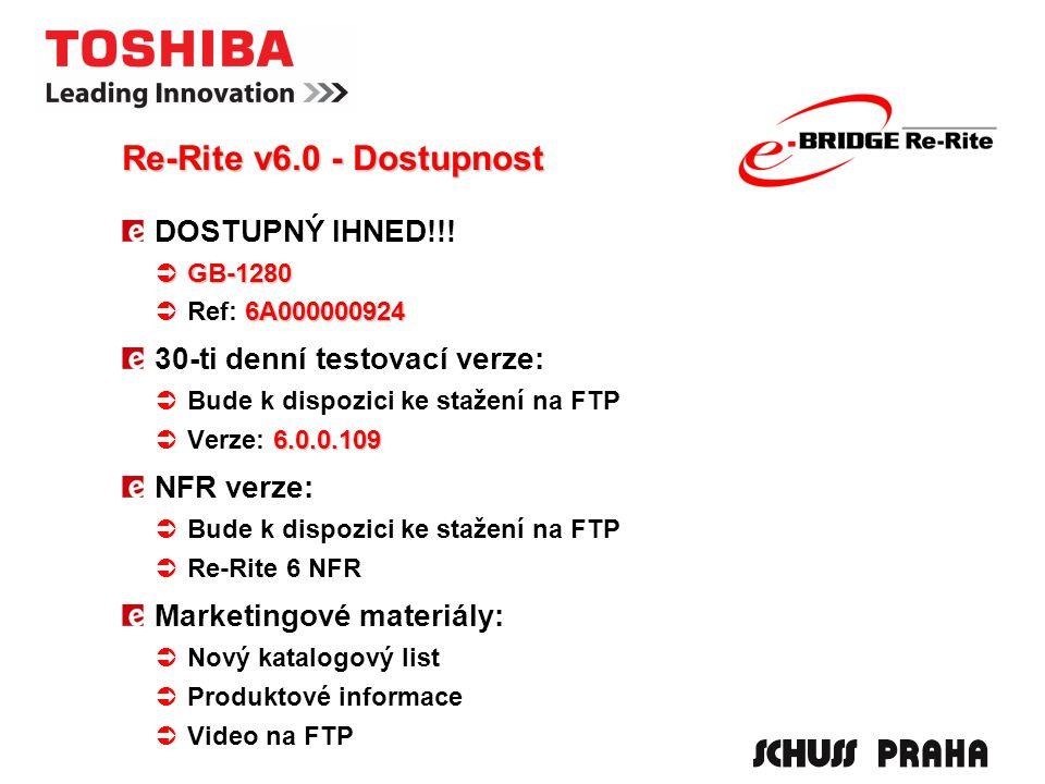 Re-Rite v6.0 - Dostupnost DOSTUPNÝ IHNED!!.