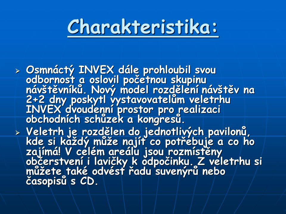 Charakteristika:  Osmnáctý INVEX dále prohloubil svou odbornost a oslovil početnou skupinu návštěvníků.
