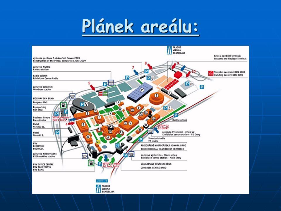 Plánek areálu: