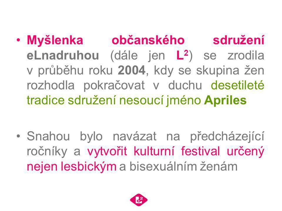 Myšlenka občanského sdružení eLnadruhou (dále jen L 2 ) se zrodila v průběhu roku 2004, kdy se skupina žen rozhodla pokračovat v duchu desetileté trad