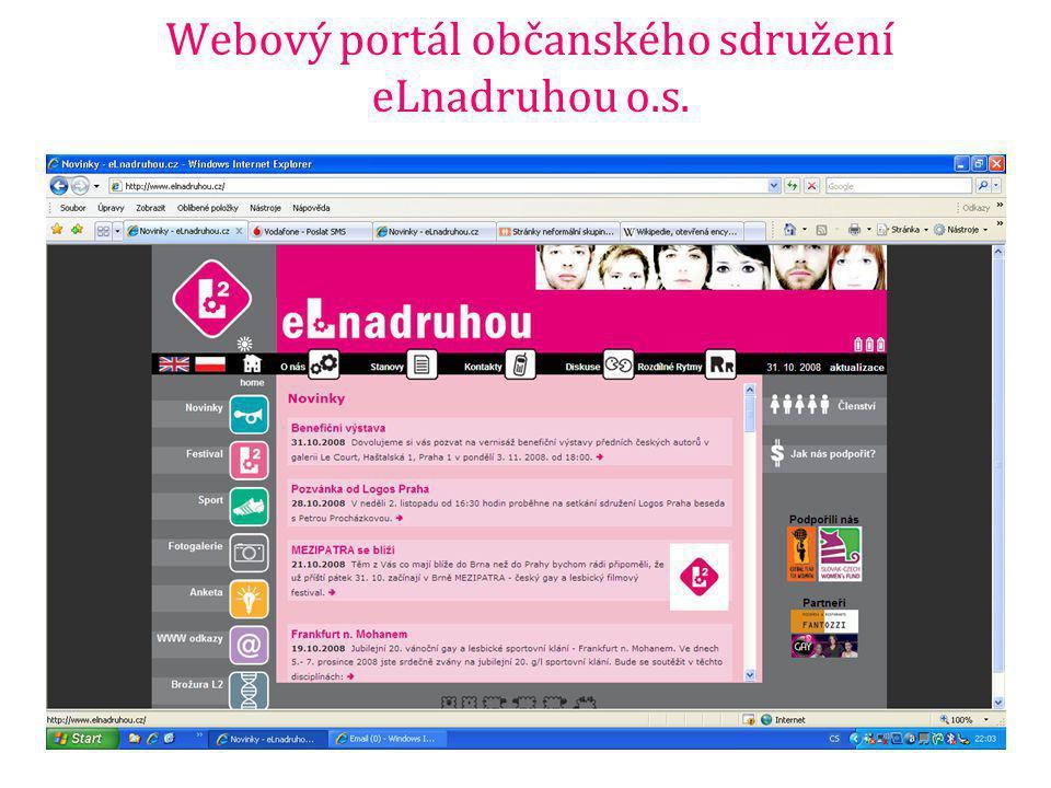 Webový portál občanského sdružení eLnadruhou o.s.
