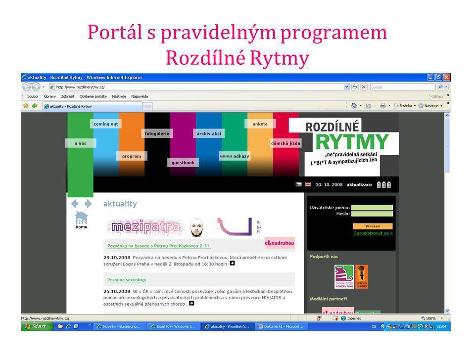 Portál s pravidelným programem Rozdílné Rytmy