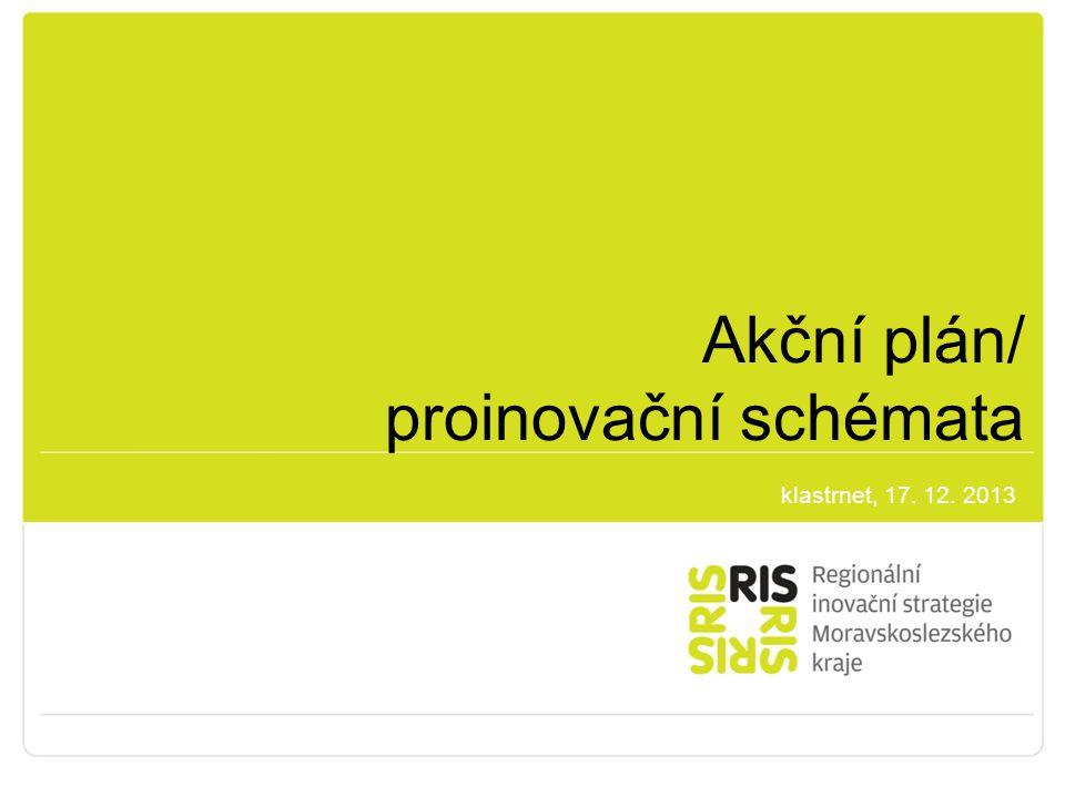 Akční plán/ proinovační schémata klastrnet, 17. 12. 2013