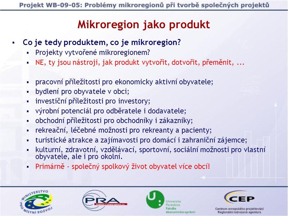 Mikroregion a sáček bonbónů  Bonbóny  Obce mikroregionu.