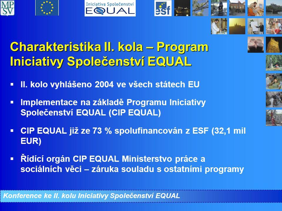 Charakteristika II. kola – Program Iniciativy Společenství EQUAL  II.